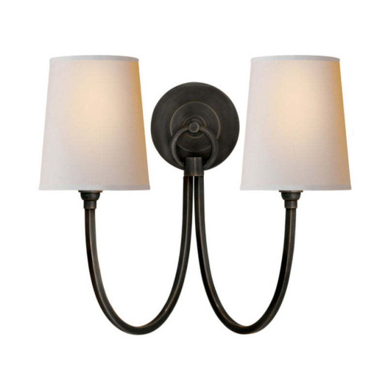 Visual Comfort TOB 2126BZ-NP Thomas O'Brien Reed Double Sconce in Bronze