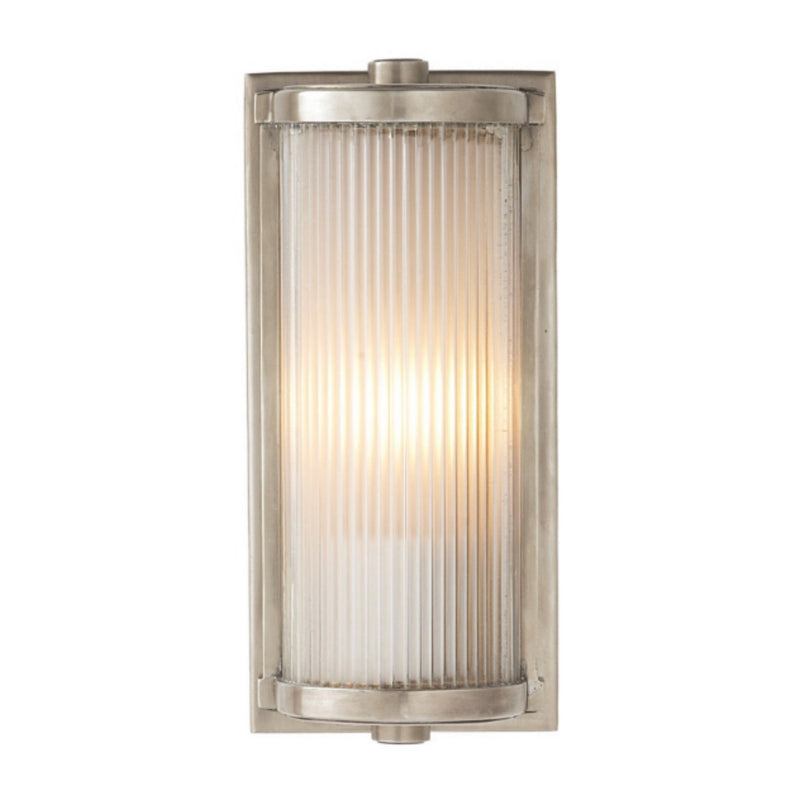 Visual Comfort TOB 2140AN-FG Thomas O'Brien Dresser Short Glass Rod Light in Antique Nickel