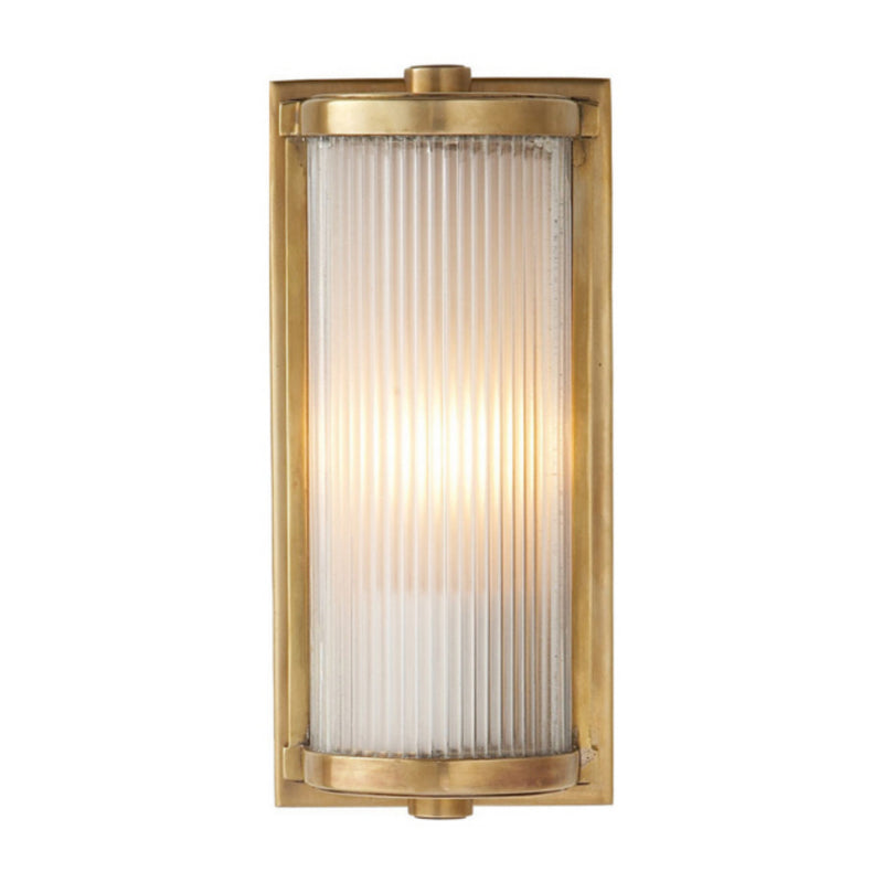 Visual Comfort TOB 2140HAB-FG Thomas O'Brien Dresser Short Glass Rod Light in Hand-Rubbed Antique Brass