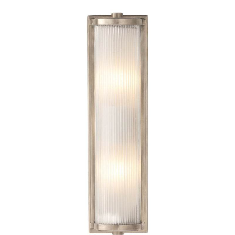 Visual Comfort TOB 2141AN-FG Thomas O'Brien Dresser Long Glass Rod Light in Antique Nickel