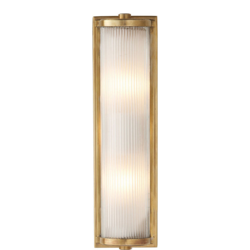 Visual Comfort TOB 2141HAB-FG Thomas O'Brien Dresser Long Glass Rod Light in Hand-Rubbed Antique Brass
