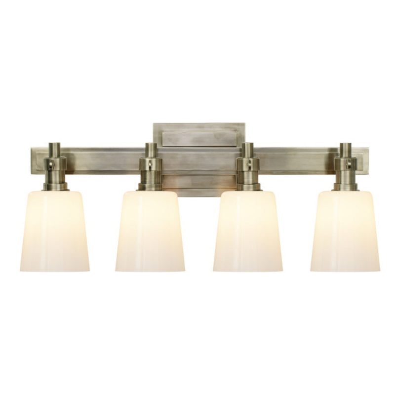 Visual Comfort TOB 2153AN-WG Thomas O'Brien Bryant Four-Light Bath Sconce in Antique Nickel