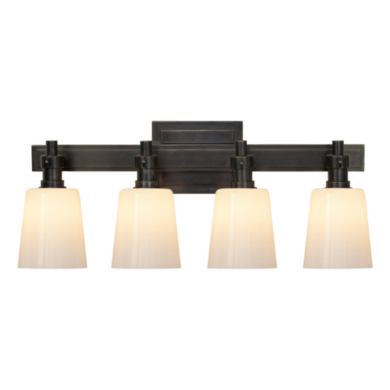 Visual Comfort TOB 2153BZ-WG Thomas O'Brien Bryant Four-Light Bath Sconce in Bronze