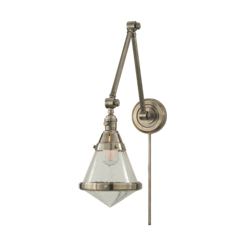 Visual Comfort TOB 2156AN-SG Thomas O'Brien Gale Library Wall Light in Antique Nickel