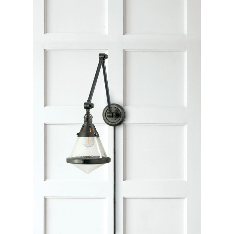Visual Comfort TOB 2156BZ-SG Thomas O'Brien Gale Library Wall Light in Bronze