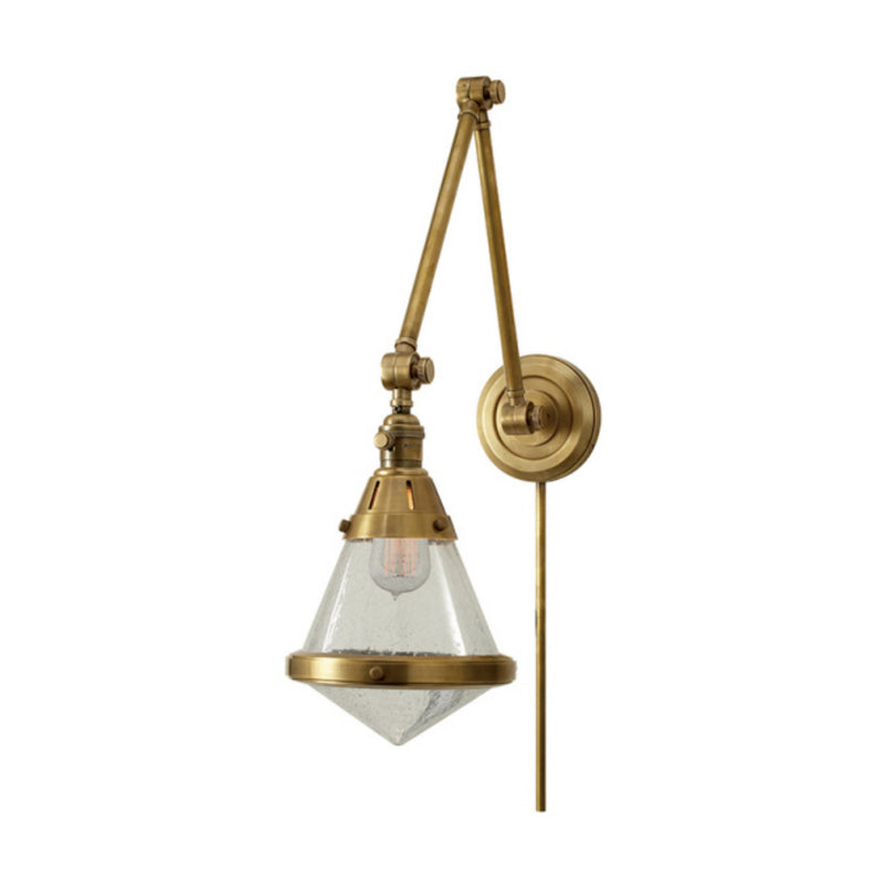 Visual Comfort TOB 2156HAB-SG Thomas O'Brien Gale Library Wall Light in Hand-Rubbed Antique Brass