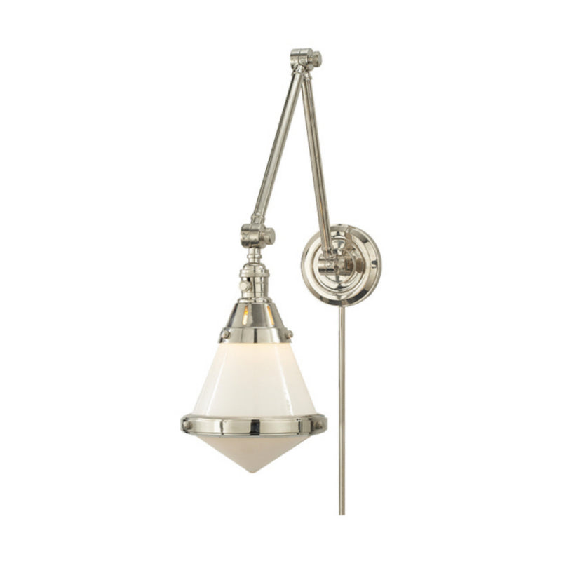 Visual Comfort TOB 2156PN-WG Thomas O'Brien Gale Library Wall Light in Polished Nickel
