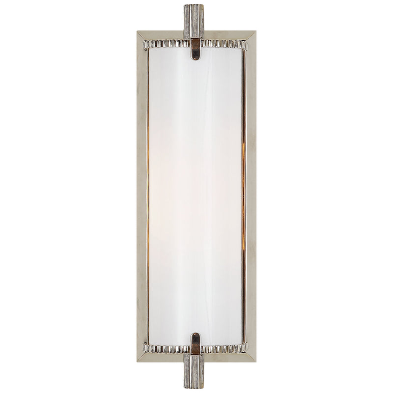Visual Comfort TOB 2184PN-WG Thomas O'Brien Calliope Short Bath Light in Polished Nickel