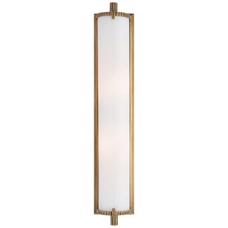 Visual Comfort TOB 2185HAB-WG Thomas O'Brien Calliope Tall Bath Light in Hand-Rubbed Antique Brass