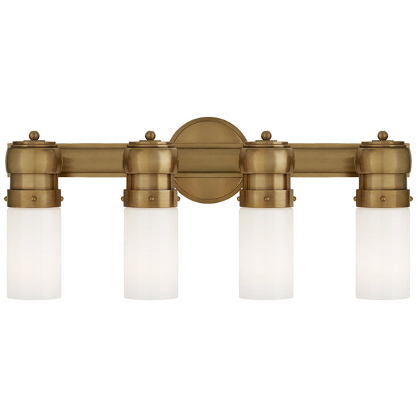 Visual Comfort TOB 2188HAB-WG Thomas O'Brien Graydon Medium Over The Mirror Bath Light in Hand-Rubbed Antique Brass