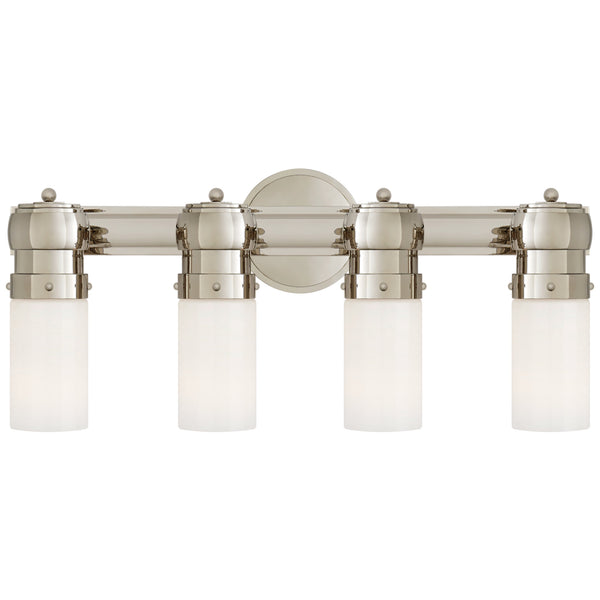 Visual Comfort TOB 2188PN-WG Thomas O'Brien Graydon Medium Over The Mirror Bath Light in Polished Nickel