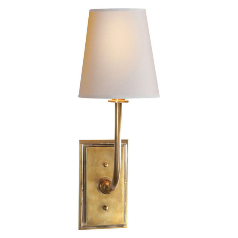 Visual Comfort TOB 2190HAB-NP Thomas O'Brien Hulton Sconce in Hand-Rubbed Antique Brass
