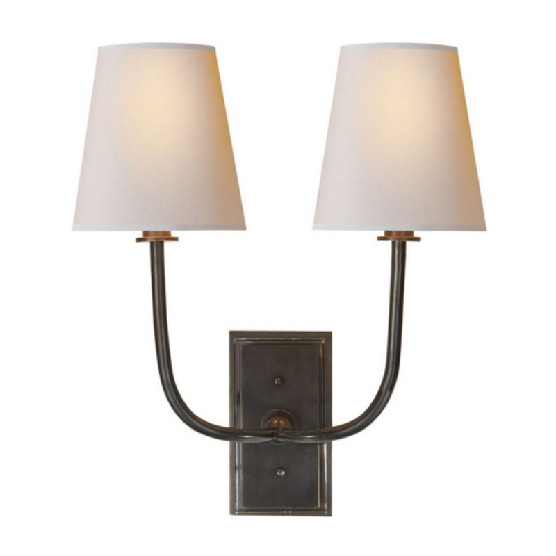 Visual Comfort TOB 2191BZ-NP Thomas O'Brien Hulton Double Sconce in Bronze