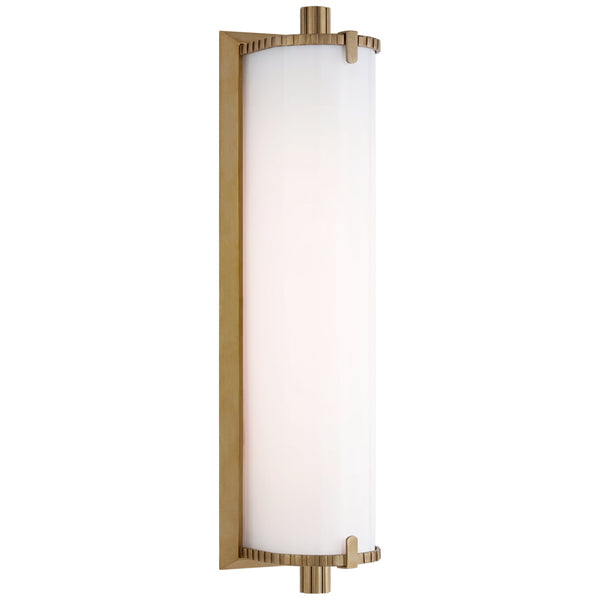 Visual Comfort TOB 2192HAB-WG Thomas O'Brien Calliope Medium Bath Light in Hand-Rubbed Antique Brass