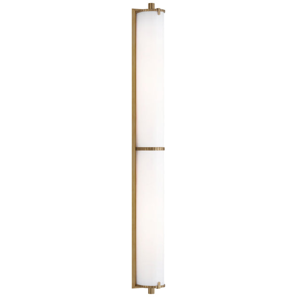 Visual Comfort TOB 2193HAB-WG Thomas O'Brien Calliope Over The Mirror Bath Light in Hand-Rubbed Antique Brass