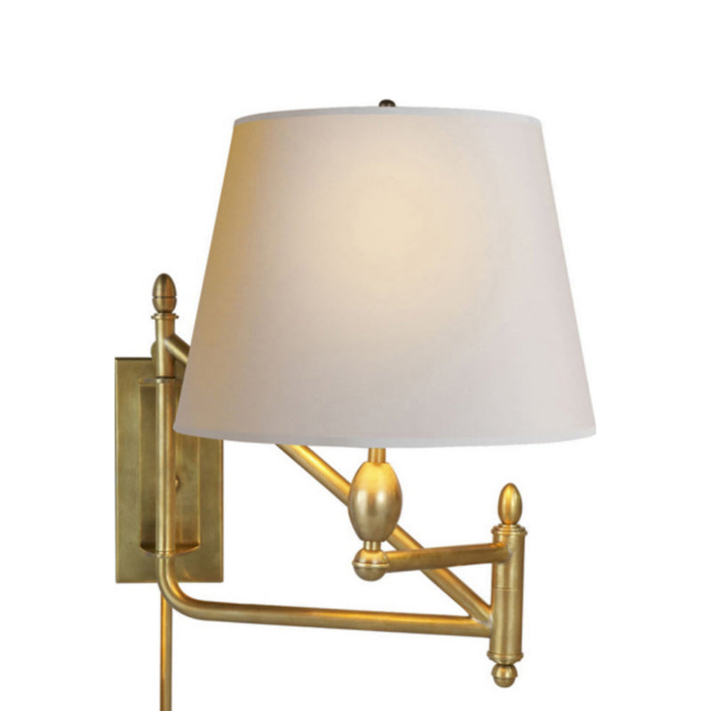 Visual Comfort TOB 2203HAB-NP Thomas O'Brien Paulo Small Bracket Light in Hand-Rubbed Antique Brass