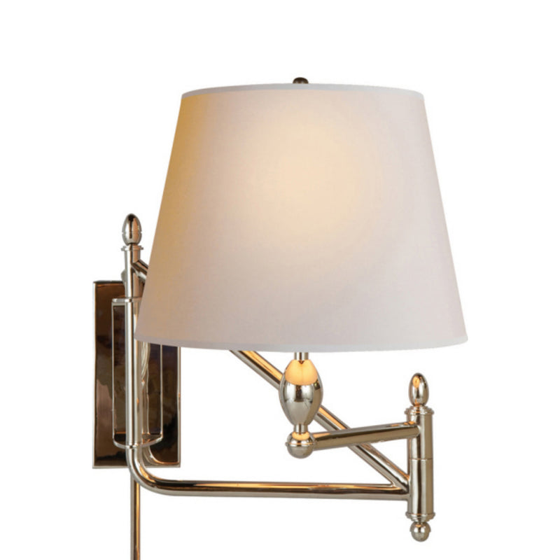 Visual Comfort TOB 2203PN-NP Thomas O'Brien Paulo Small Bracket Light in Polished Nickel
