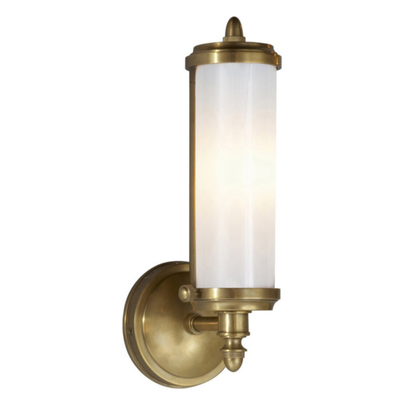 Visual Comfort TOB 2206HAB-WG Thomas O'Brien Merchant Single Bath Light in Hand-Rubbed Antique Brass