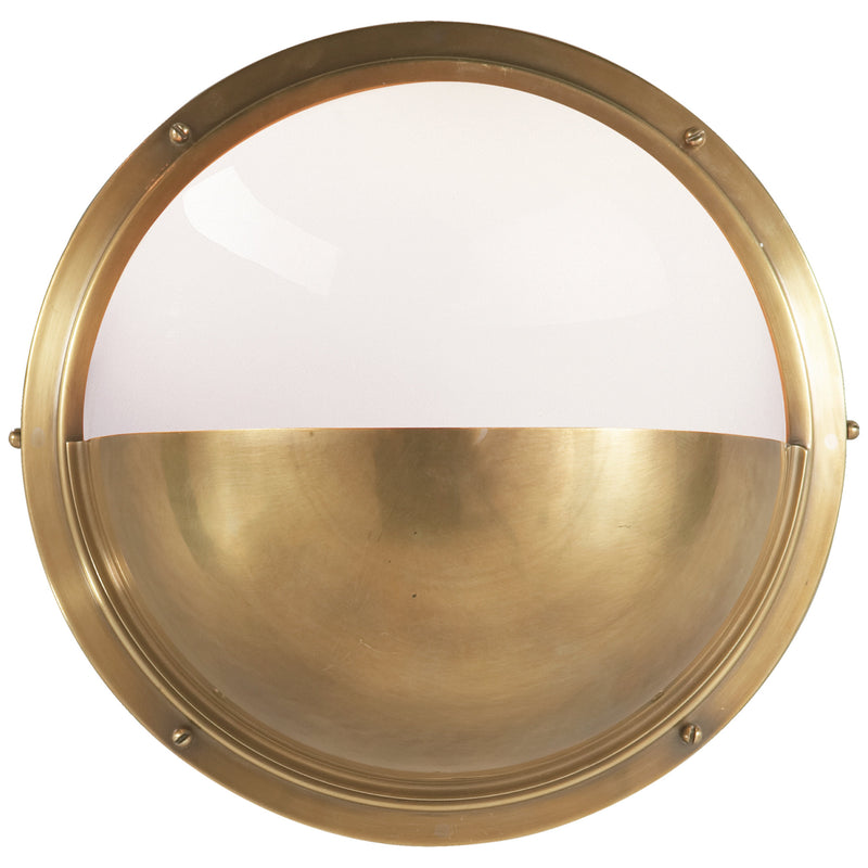 Visual Comfort TOB 2208HAB-WG Thomas O'Brien Pelham Moon Light in Hand-Rubbed Antique Brass
