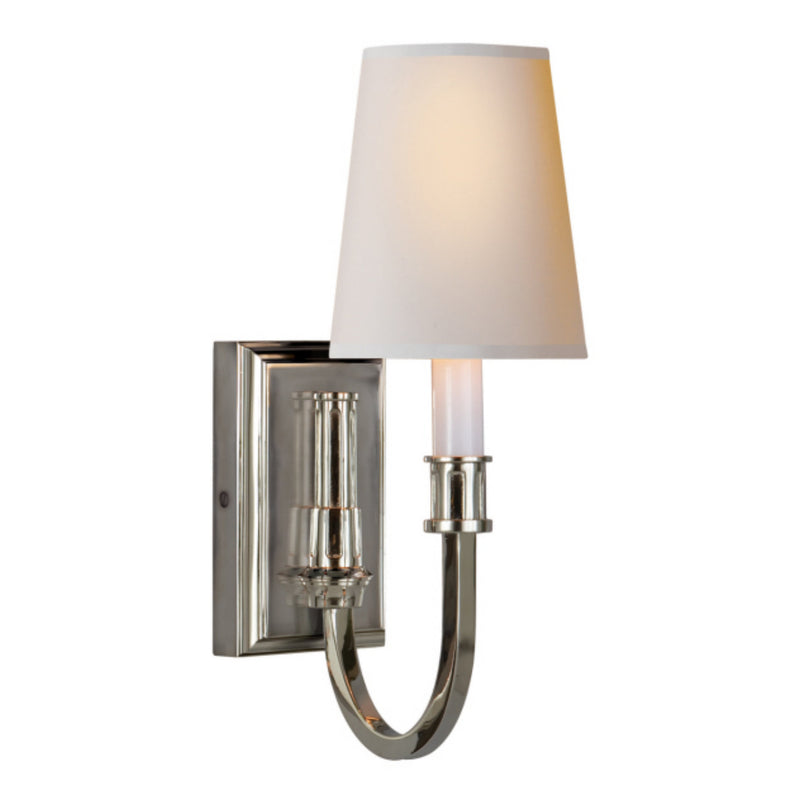 Visual Comfort TOB 2327PN-NP Thomas O'Brien Modern Library Sconce in Polished Nickel