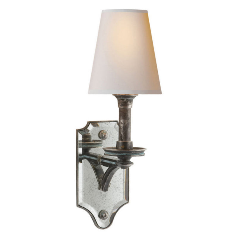 Visual Comfort TOB 2330SN-NP Thomas O'Brien Verona Mirrored Sconce in Sheffield Nickel