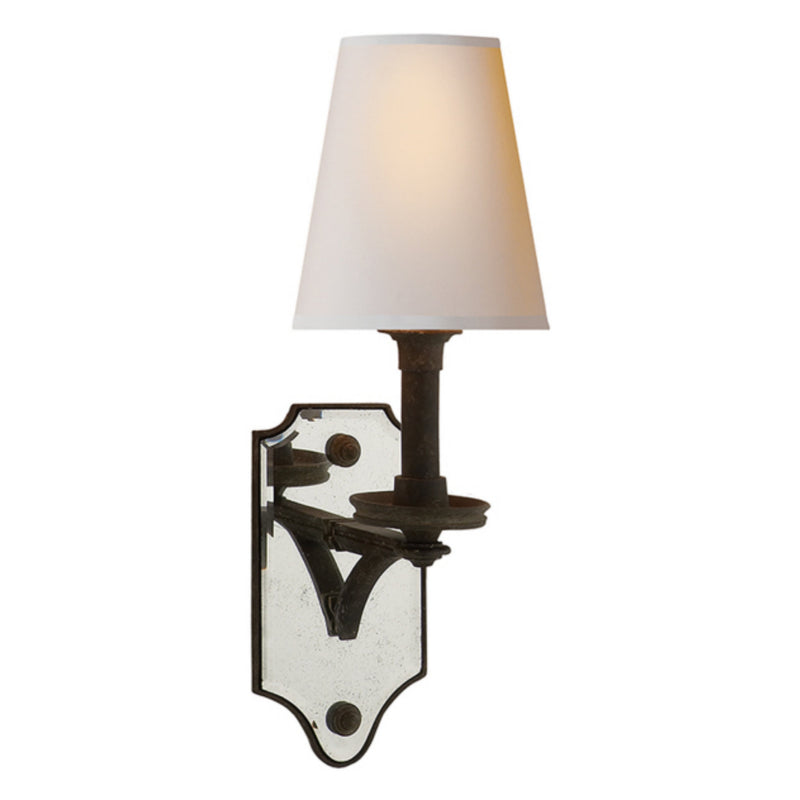 Visual Comfort TOB 2330WI-NP Thomas O'Brien Verona Mirrored Sconce in Weathered Iron