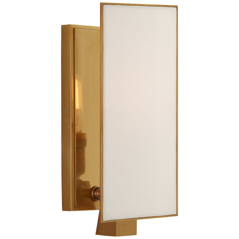 Visual Comfort TOB 2340HAB-L Thomas O'Brien Albertine Petite Sconce in Hand-Rubbed Antique Brass