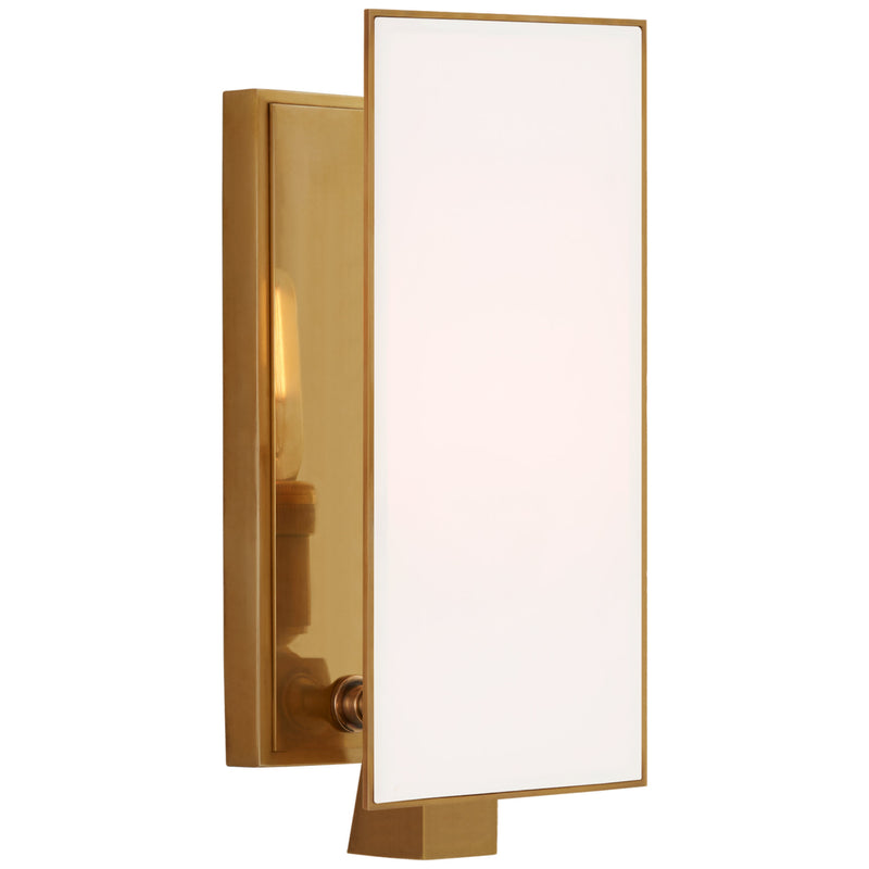 Visual Comfort TOB 2340HAB-WG Thomas O'Brien Albertine Petite Sconce in Hand-Rubbed Antique Brass