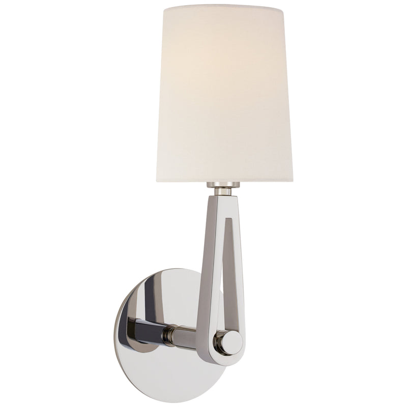 Visual Comfort TOB 2510PN-L Thomas O'Brien Alpha Single Sconce in Polished Nickel