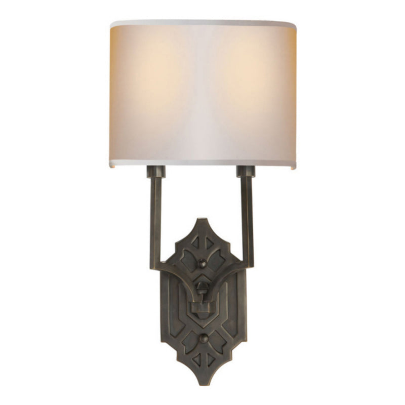 Visual Comfort TOB 2600BZ-NP Thomas O'Brien Silhouette Fretwork Sconce in Bronze