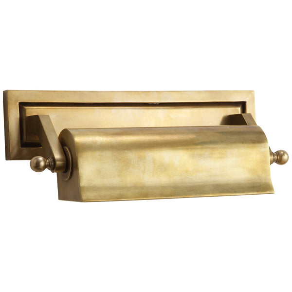 "Visual Comfort TOB 2604HAB Thomas O'Brien Library 10"" Picture Light in Hand-Rubbed Antique Brass"