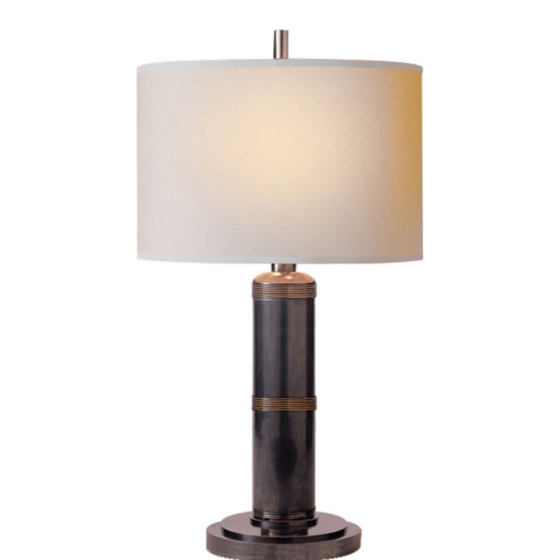 Visual Comfort TOB 3000BZ-NP Thomas O'Brien Longacre Small Table Lamp in Bronze