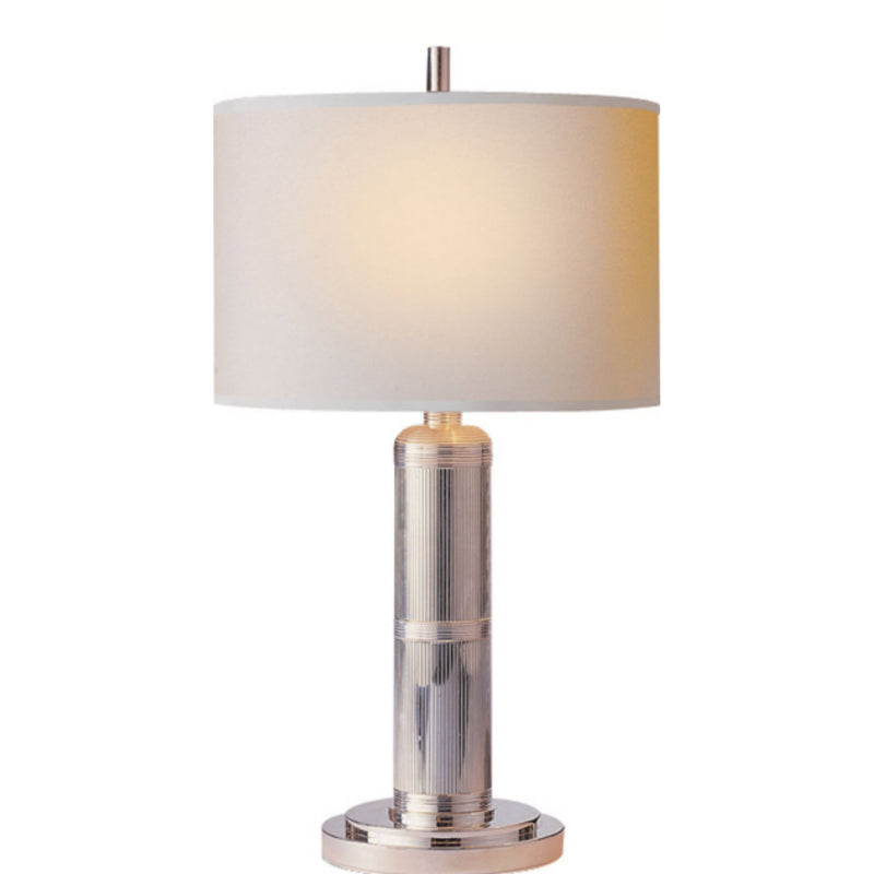 Visual Comfort TOB 3000PN-NP Thomas O'Brien Longacre Small Table Lamp in Polished Nickel