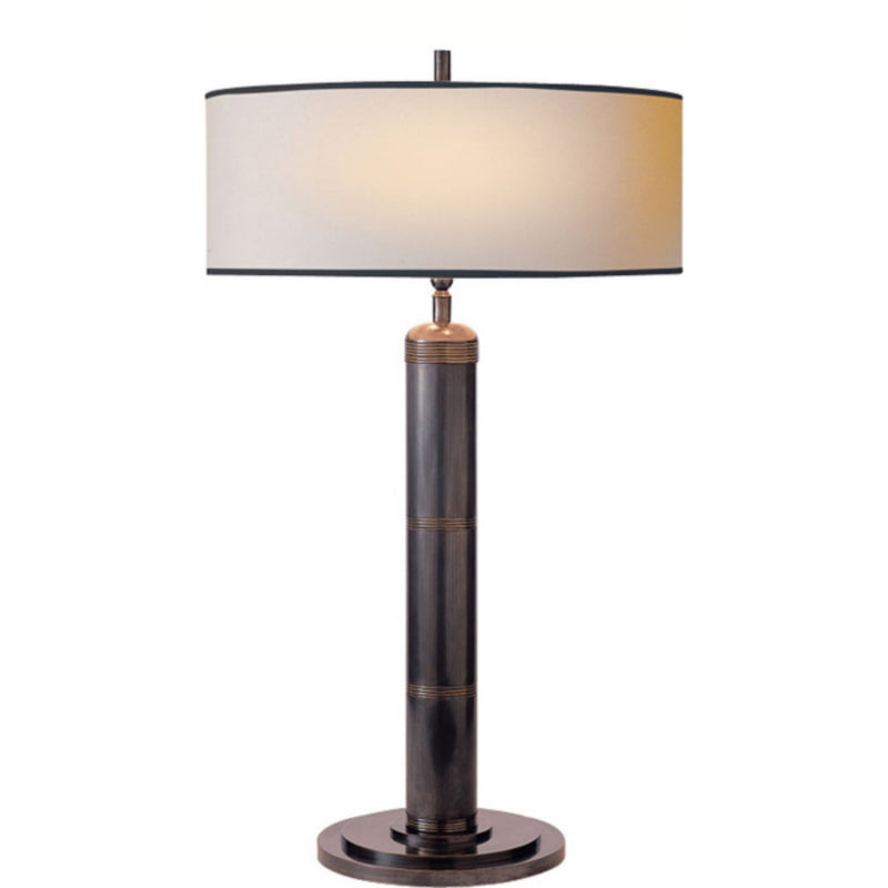 Visual Comfort TOB 3001BZ-NP/BT Thomas O'Brien Longacre Tall Table Lamp in Bronze