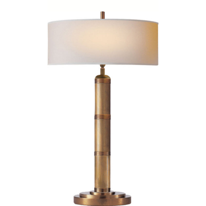 Visual Comfort TOB 3001HAB-NP Thomas O'Brien Longacre Tall Table Lamp in Hand-Rubbed Antique Brass