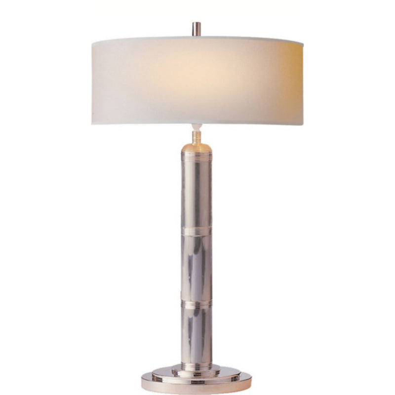 Visual Comfort TOB 3001PN-NP Thomas O'Brien Longacre Tall Table Lamp in Polished Nickel