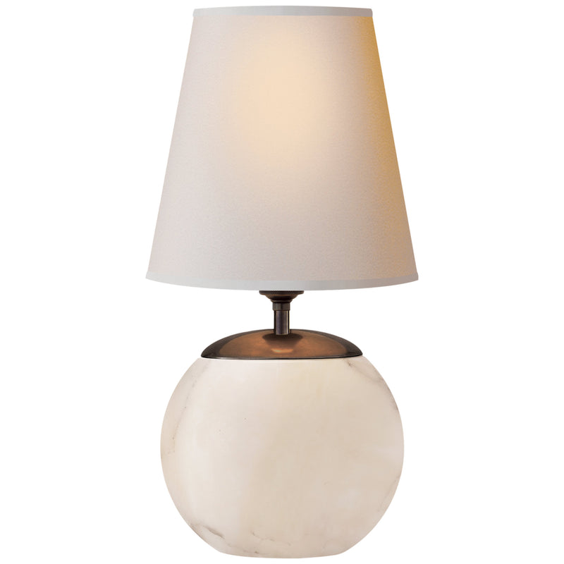 Visual Comfort TOB 3014ALB-NP Thomas O'Brien Terri Round Accent Lamp in Alabaster