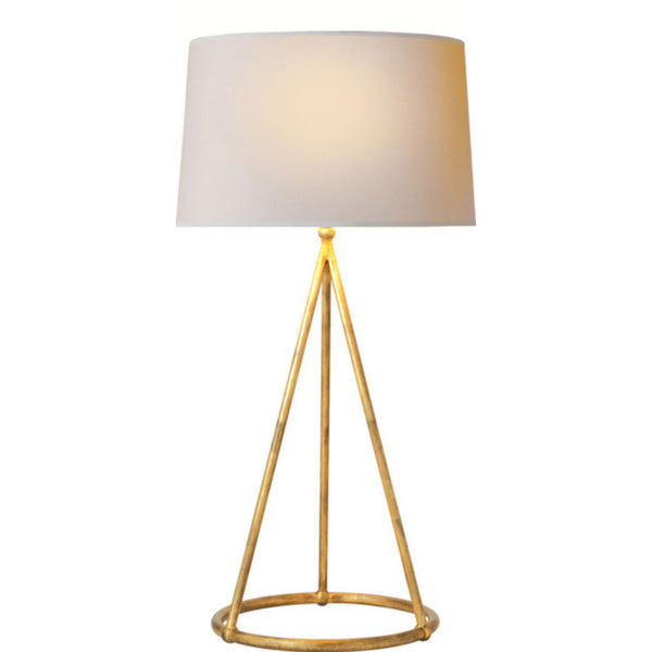 Visual Comfort TOB 3026GI-NP Thomas O'Brien Nina Tapered Table Lamp in Gilded Iron