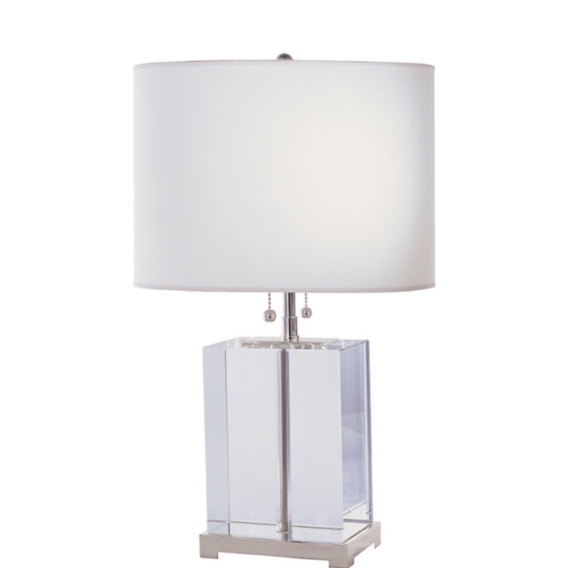 Visual Comfort TOB 3031CG-C Thomas O'Brien Block Table Lamp in Crystal