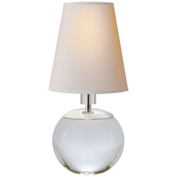 Visual Comfort TOB 3051CG-NP Thomas O'Brien Modern Tiny Terri Round Accent Lamp in Crystal