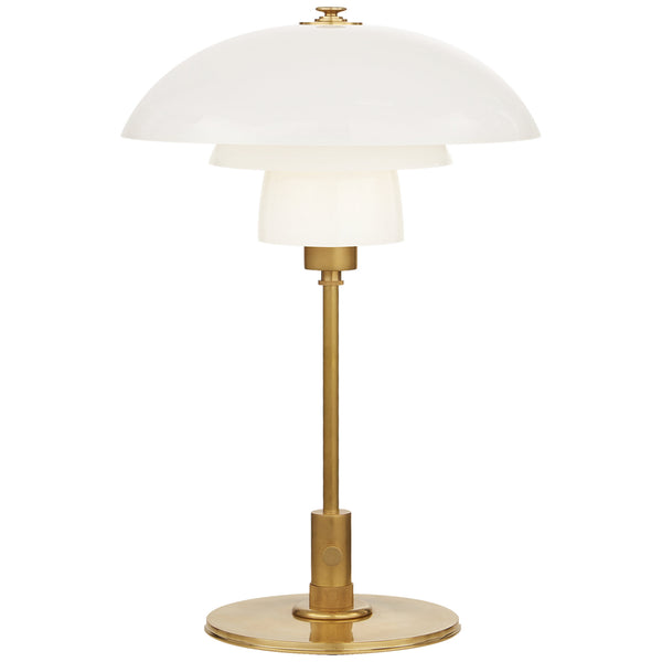 Visual Comfort TOB 3513HAB-WG Thomas O'Brien Whitman Desk Lamp in Hand-Rubbed Antique Brass
