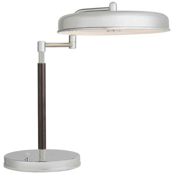 Visual Comfort TOB 3739PN/BZ Thomas O'Brien Modern Huxley Swing Arm Desk Lamp in Polished Nickel and Bronze