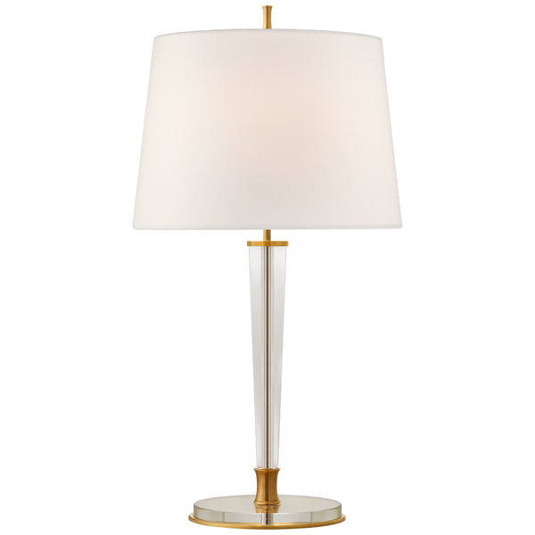 Visual Comfort TOB 3942HAB-L Thomas O'Brien Lyra Large Table Lamp in Hand-Rubbed Antique Brass and Crystal