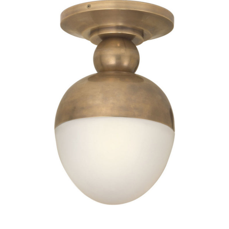 Visual Comfort TOB 4006HAB-WG Thomas O'Brien Clark Flush Mount in Hand-Rubbed Antique Brass