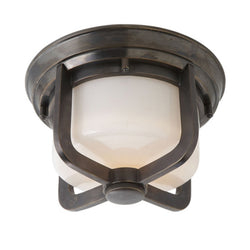 Visual Comfort TOB 4011BZ-WG Thomas O'Brien Milton Short Flush Mount in Bronze