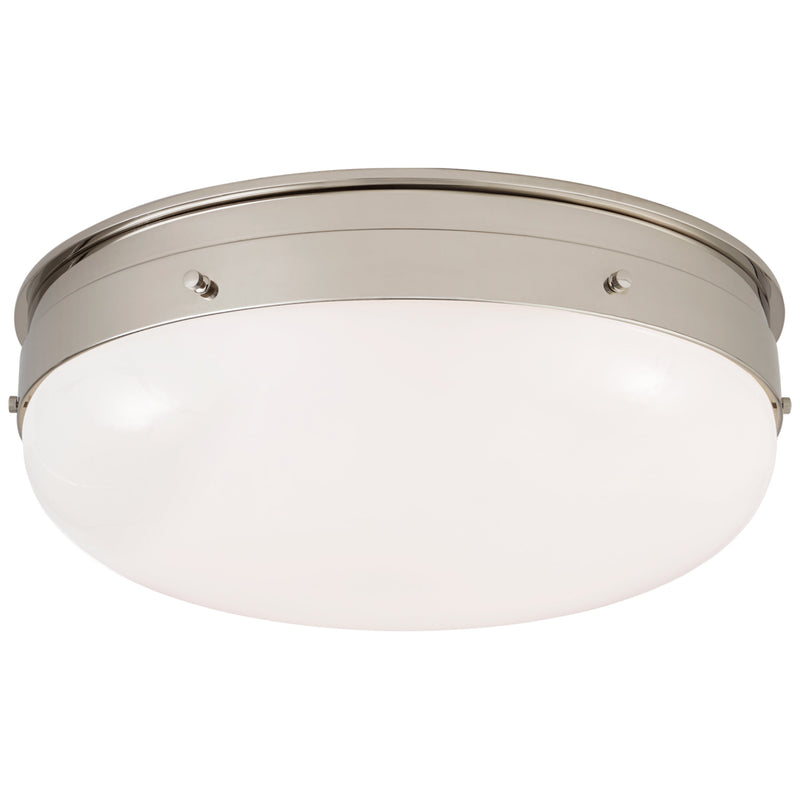 Visual Comfort TOB 4064PN-WG Thomas O'Brien Hicks Medium Flush Mount in Polished Nickel