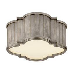 Visual Comfort TOB 4130AN-WG Thomas O'Brien Tilden Small Flush Mount in Antique Nickel
