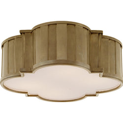Visual Comfort TOB 4131HAB-WG Thomas O'Brien Tilden Large Flush Mount in Hand-Rubbed Antique Brass