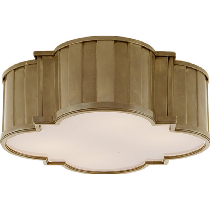 Visual Comfort TOB 4131HAB-WG Thomas O'Brien Modern Tilden Large Flush Mount in Hand-Rubbed Antique Brass