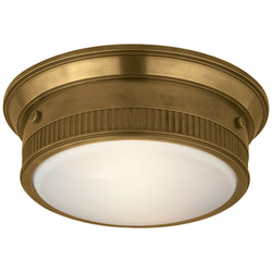 Visual Comfort TOB 4203HAB Thomas O'Brien Calliope Marine Flush Mount in Hand-Rubbed Antique Brass